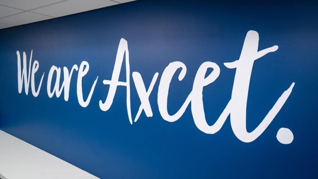 We are Axcet wall