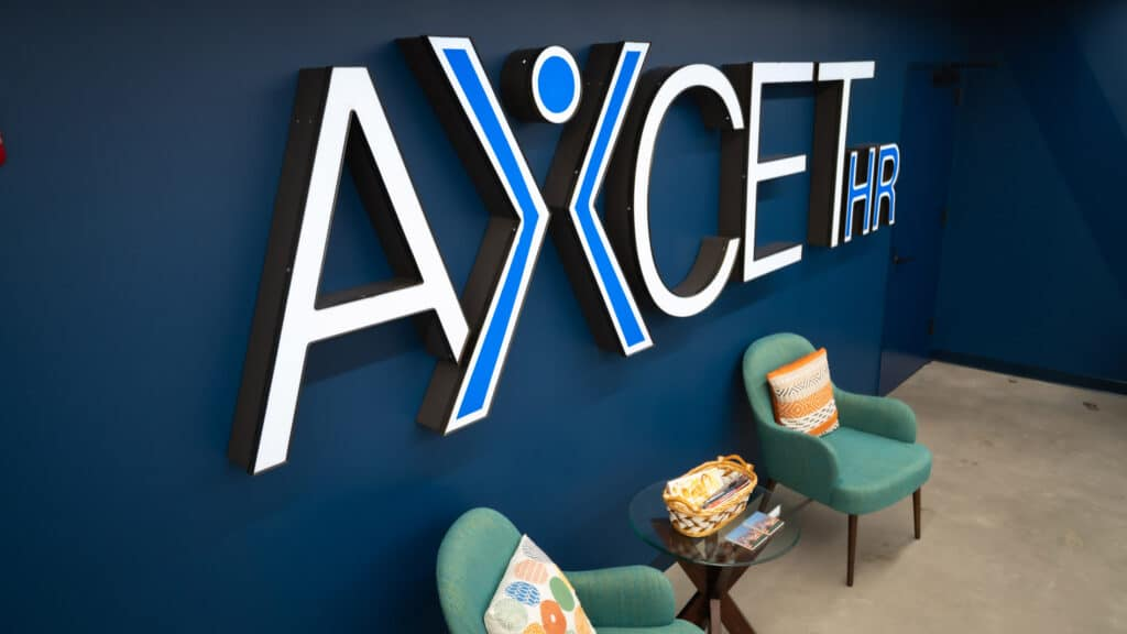 Axcet HR wall logo