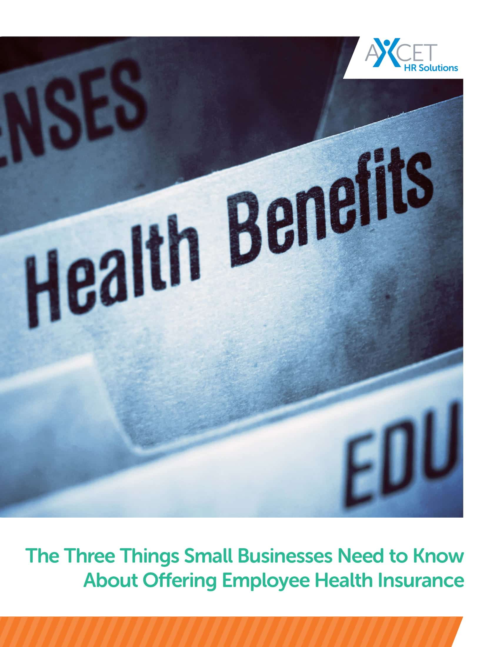 offering employee health insurance Axcet HR