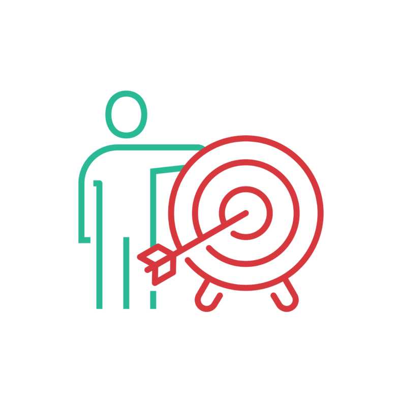 efficiency target icon